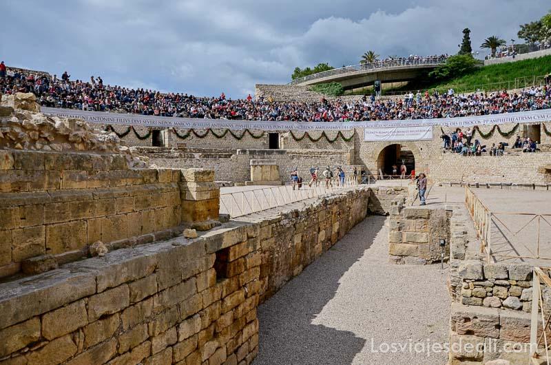 circo romano lleno de público en el festival de tarraco viva