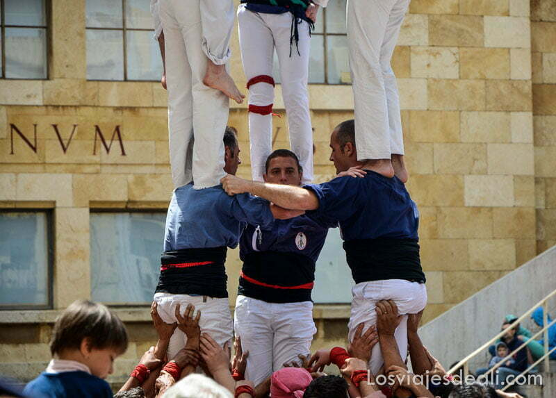 castellet de tarragona durante el festival de tarraco viva