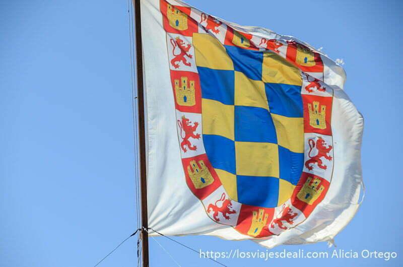 bandera de combates medievales