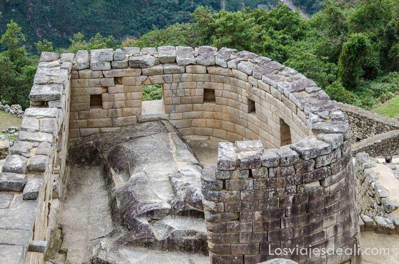 templo del sol con forma semicircular