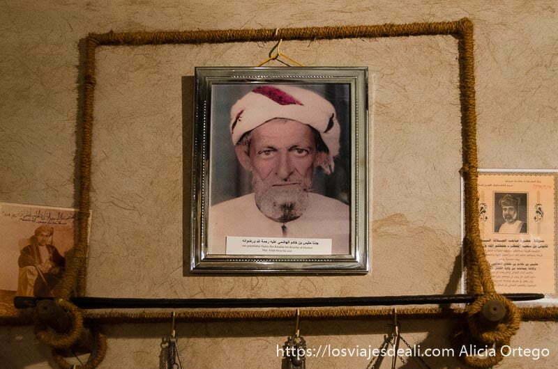 retrato del abuelo del dueño de la casa museo