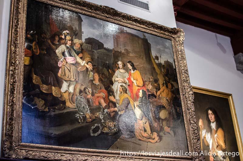 cuadro de la casa de rembrandt en amsterdam