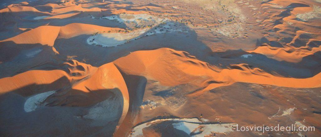 vuelo sobre desierto namib