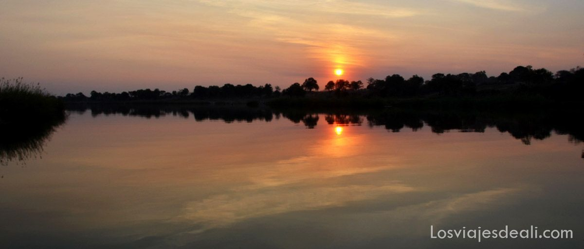 puesta de sol namibia