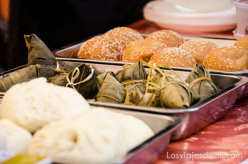 comida tradicional china en el año nuevo chino en madrid