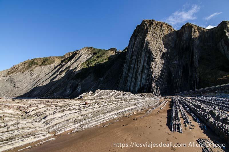 flysch de zumaia gran acantilado con capas de roca