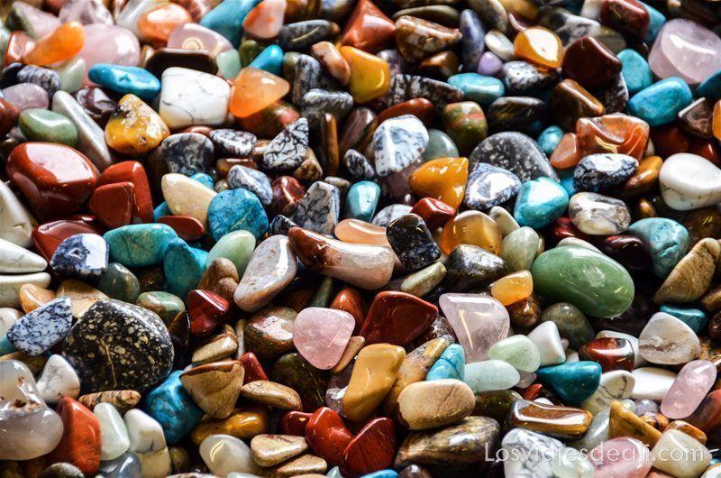 piedras semipreciosas de todos los colores en Swakopmund