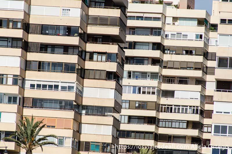 balcones de torres de pisos un fin de semana en torremolinos