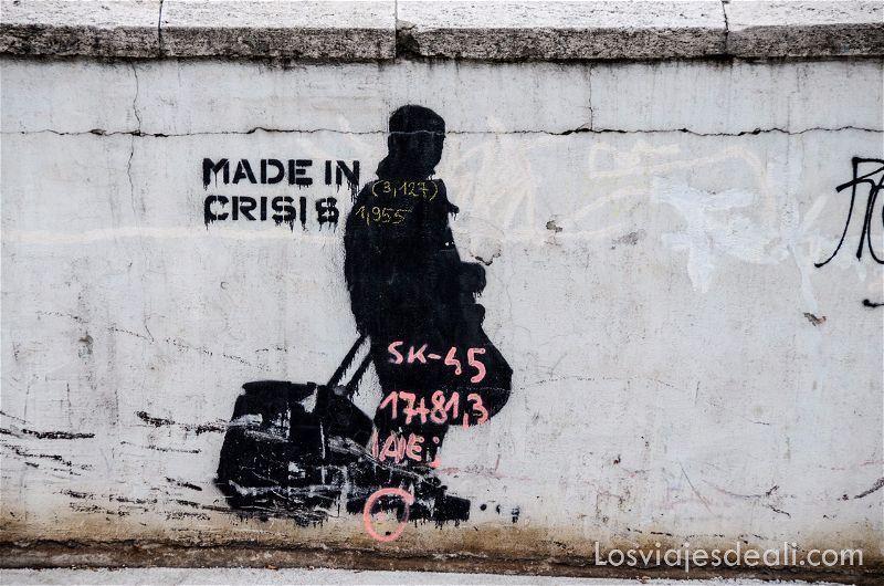 calles de Budapest pintada crisis