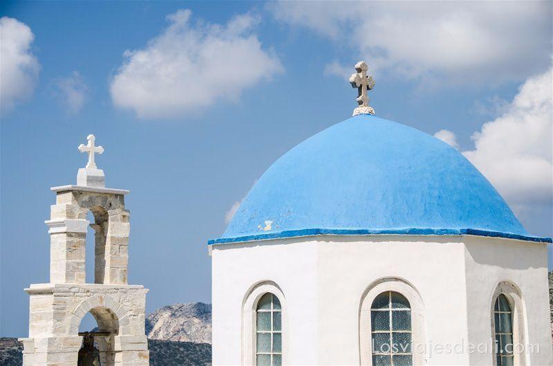 pueblos del interior de naxos iglesia de Filoti