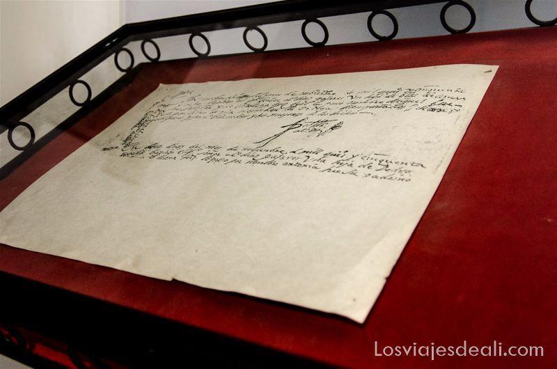 partida de nacimiento de Cervantes en alcázar de san juan