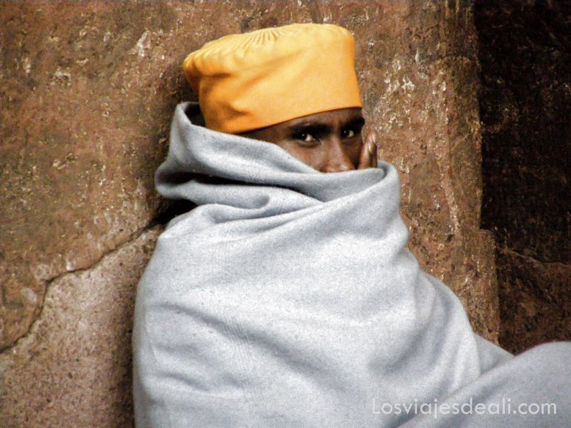 monje ortodoxo etíope en Gentes de África