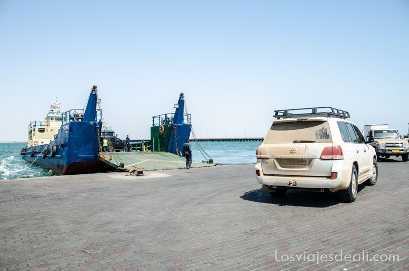 puerto de Shannah y ferry a isla Masirah
