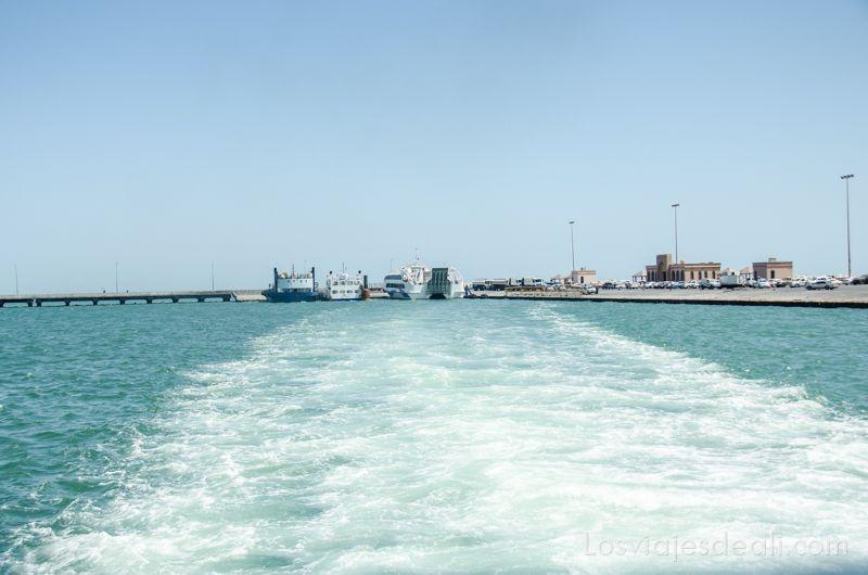 llegando a la isla de Masirah en Omán