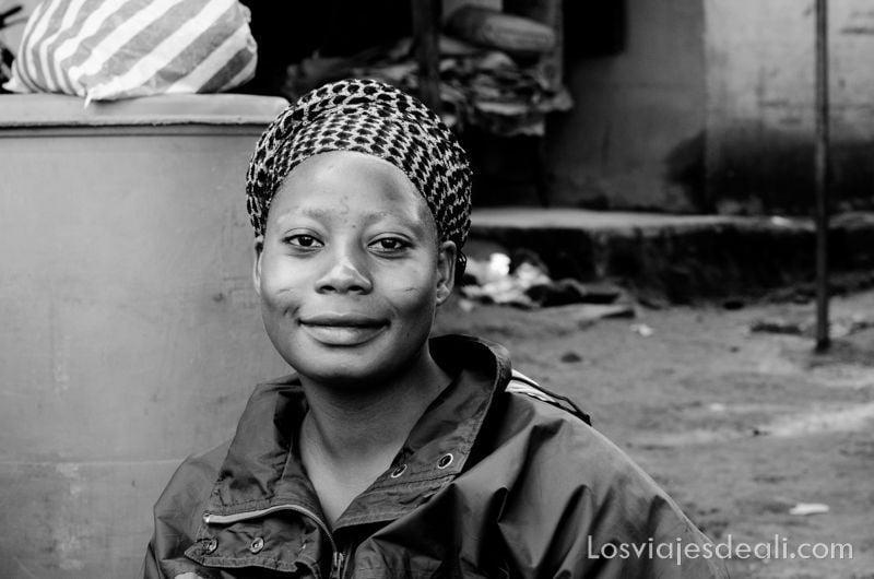 retrato de mujer de Natitingou