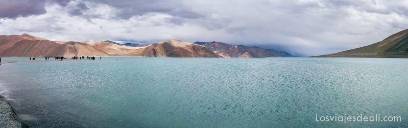 lago pangong panorámica