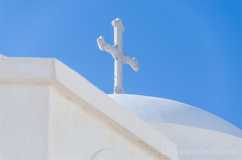 las texturas de los viajes cúpulas de Grecia