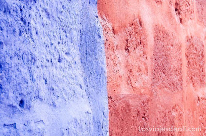 las texturas de los viajes paredes de Arequipa