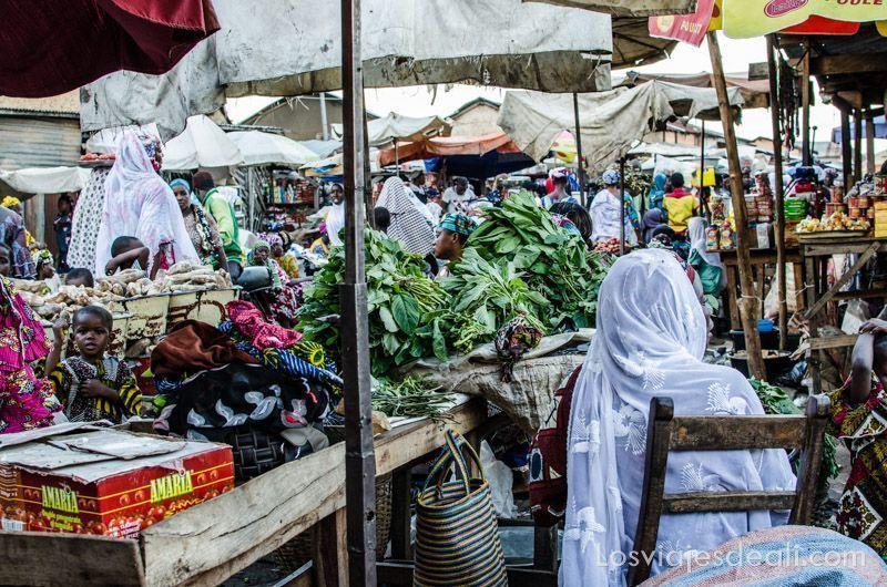 mercados de Benin sin mirar por el visor