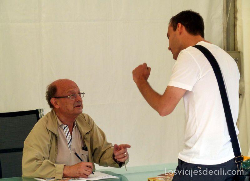 Ibáñez en la Feria del libro de Madrid