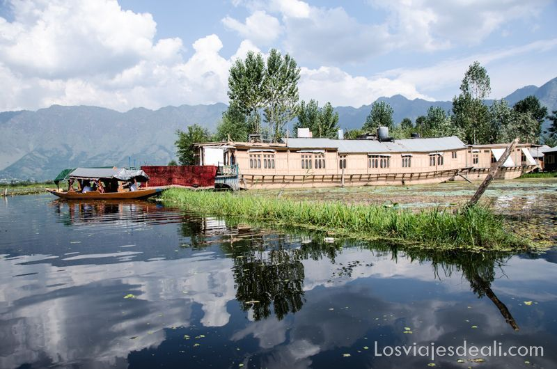Srinagar barcas en lago Dal