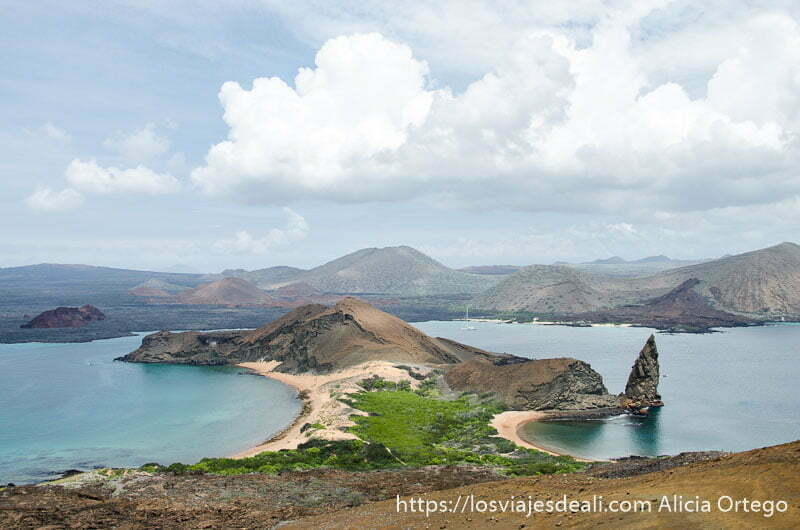 panorámica desde isla bartolomé galápagos
