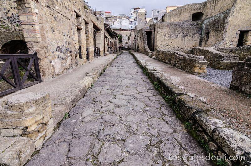 visita a Herculano calle