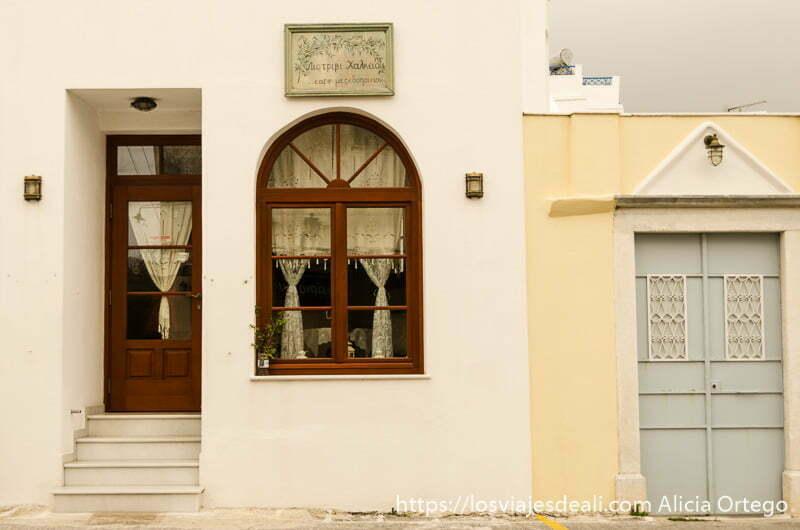 restaurante pueblo de naxos gastronomía griega