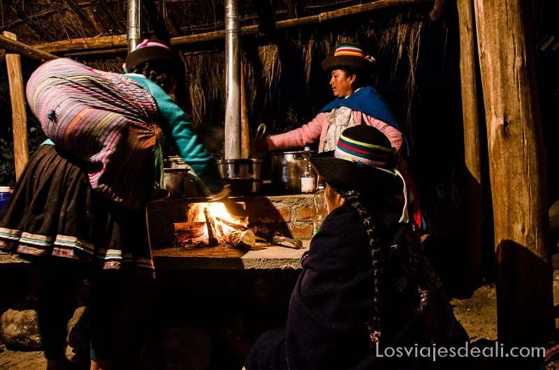 cocinando en comunidad humacchuco