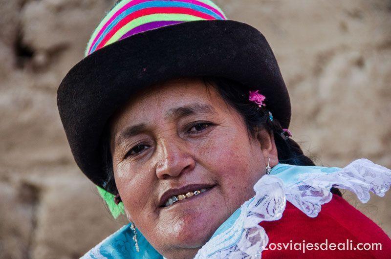 mujer de comunidad humacchuco