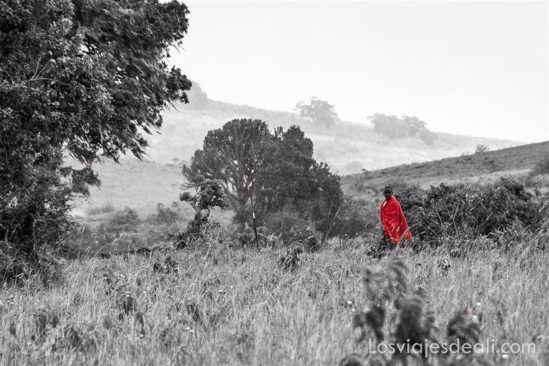 cráter de Ngorongoro masai
