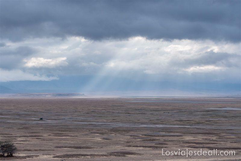 cráter de Ngorongoro paisaje