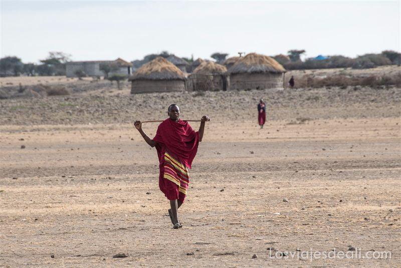 hombre de tribu Masai