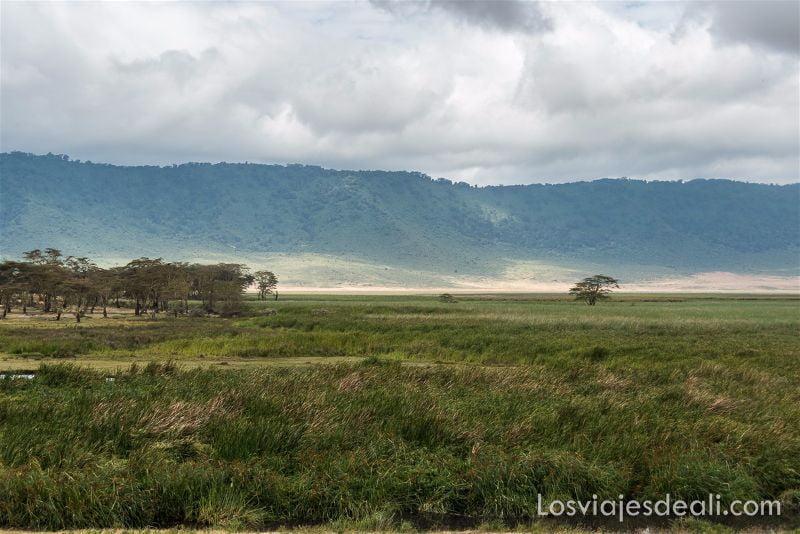 paisaje del cráter de Ngorongoro
