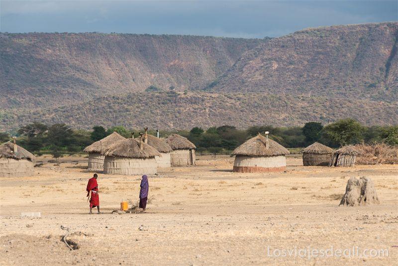 tribu Masai en Mto Wa Mbu