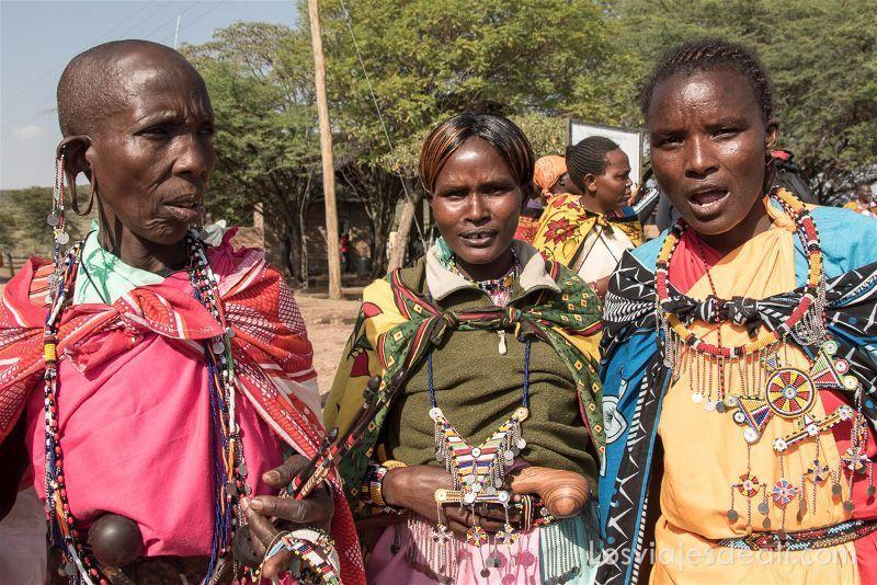 viudas de la tribu Masai