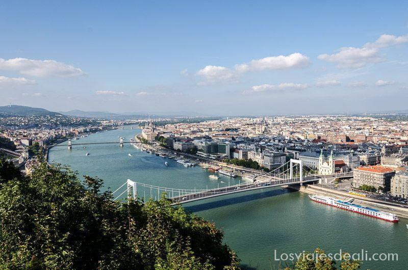 Budapest desde las alturas Danubio