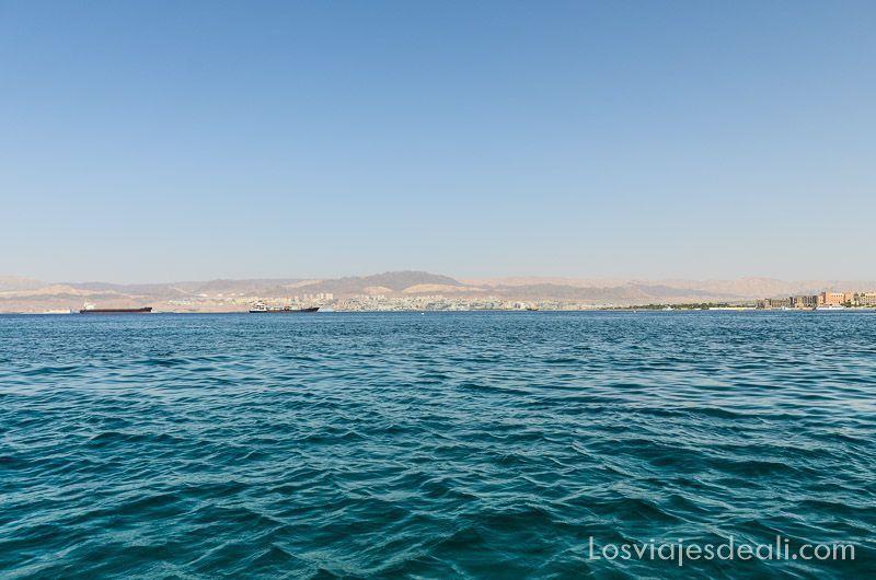 aqaba y mar muerto paisaje