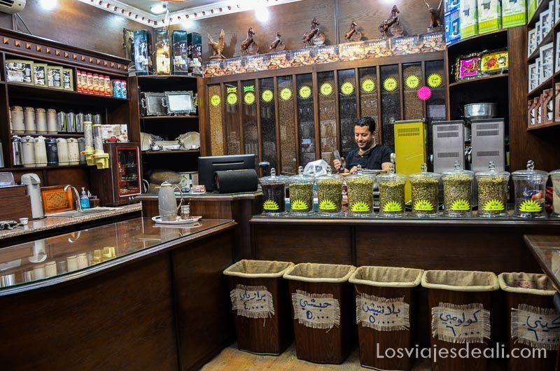 tienda de café de aqaba y mar muerto