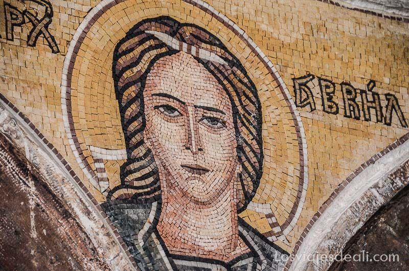madaba iglesia mosaico maría