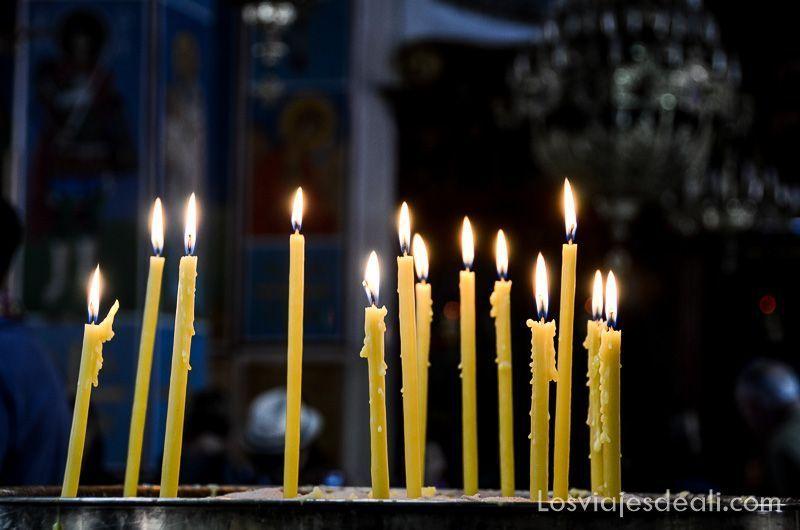 madaba iglesia velas