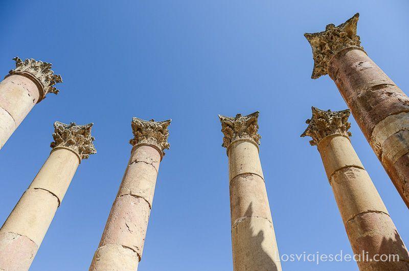 ruinas de jerash columnas templo