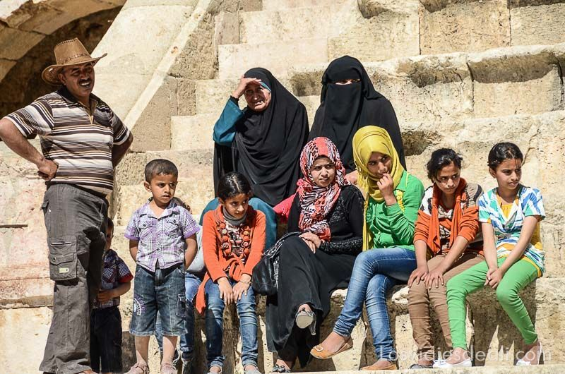 ruinas de jerash familia jordana