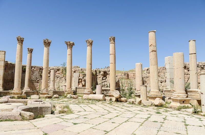 ruinas de jerash mercado foro
