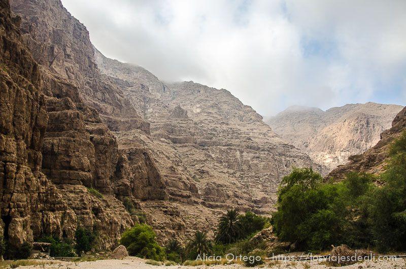 cañón del Wadi Shab en Omán