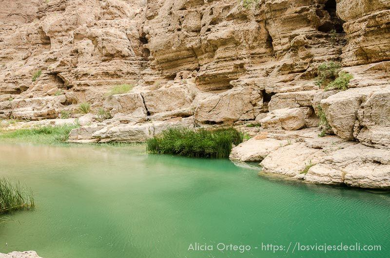 trekking en Wadi Shab en Omán