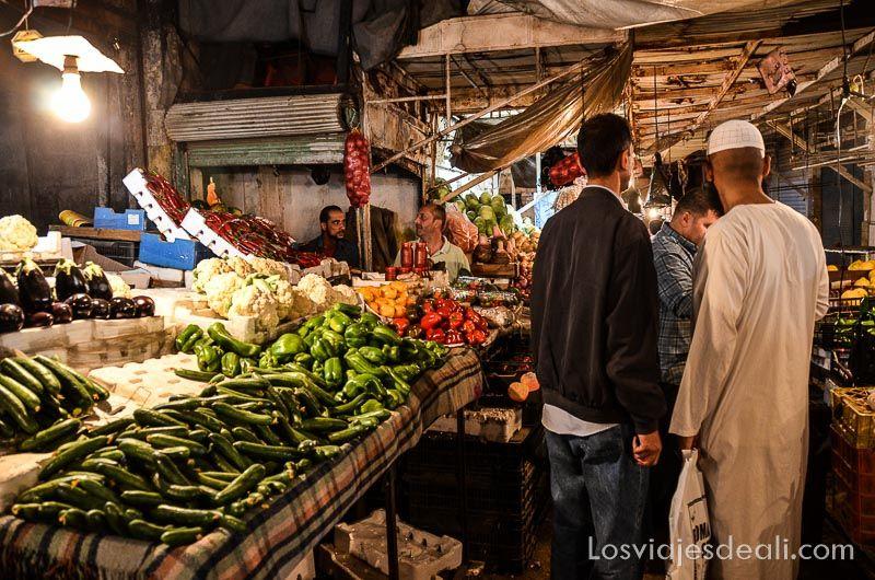 Amman mercado verduras