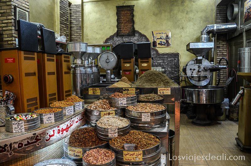 Amman tienda de frutos secos
