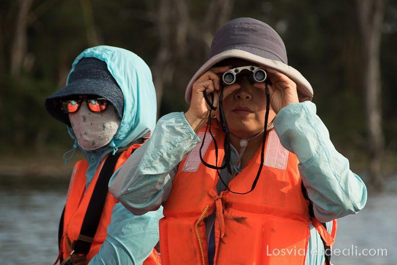 turistas chinos en la lago naivasha