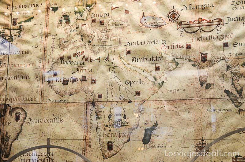 mapa del Museo de Galileo en Florencia
